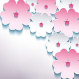 Blom- abstrakt stilfull bakgrund med blomman 3d  Fotografering för Bildbyråer