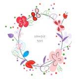 Blom- abstrakt vektorhälsningkort Arkivfoto