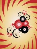 blom- abstraktioncirkel stock illustrationer