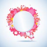 blom- anförande för bubbla Arkivbild