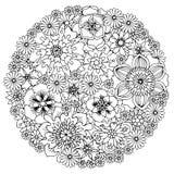 Blom- anti-stressÂfärgläggning Arkivfoton