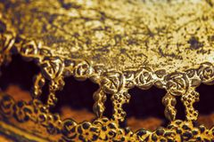 Blom- antik lantlig brons och steg ramar Royaltyfri Fotografi