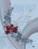 blom- artikelbakgrund stock illustrationer
