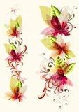 blom- avstånd för färgrik sammansättning Stock Illustrationer