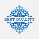 Blom- bästa kvalitets- etikett Royaltyfri Fotografi