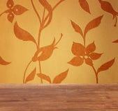 Blom- backgroun för tappning Royaltyfri Fotografi