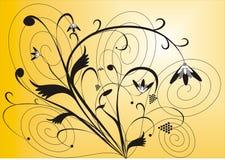 blom- bakgrund Royaltyfri Foto