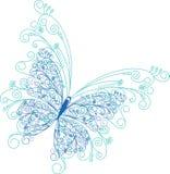 Blom- bakgrund för abstrakt fjäril Royaltyfri Fotografi