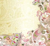 Blom- bakgrund för abstrakt persika Royaltyfri Foto