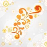 Blom- bakgrund för abstrakt swirl Royaltyfri Fotografi