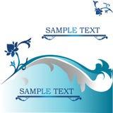 Blom- bakgrund för blått royaltyfri foto