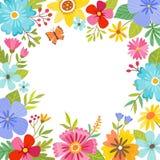Blom- bakgrund för gullig färgrik vår Royaltyfria Bilder