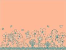 Blom- bakgrund för persika Royaltyfri Bild