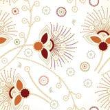 Blom- bakgrund för Seamless sicksack Royaltyfria Foton