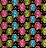 Blom- bakgrund för Seamless vektor royaltyfri illustrationer