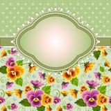 Blom- bakgrund för tappning stock illustrationer