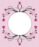 Blom- bakgrund för tappning Arkivbild