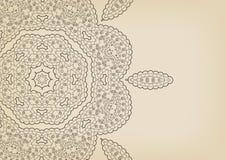 Blom- bakgrund för tappning i etnisk stil Arkivbild