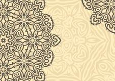 Blom- bakgrund för tappning i etnisk stil vektor Royaltyfria Bilder