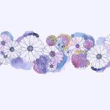 Blom- bakgrund för vattenfärg Royaltyfri Bild