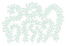 Blom- bakgrund för vektor med gräsplan som bestiger växter Royaltyfria Foton