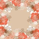 Blom- bakgrund med blommor av pionen Royaltyfria Bilder