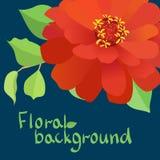 Blom- bakgrund med blommor, vektor. Stock Illustrationer