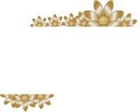 Blom- bakgrund med den guld- blomman Royaltyfria Foton