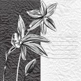 Blom- bakgrund med hand drog blommor. Vektor EPS10. Arkivfoto