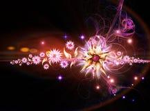 blom- bakgrund nightly royaltyfri illustrationer