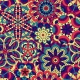 Blom- bakgrund som göras av många mandalas seamless modell Royaltyfria Foton