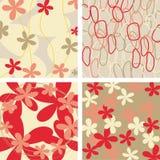 blom- bakgrunder stock illustrationer