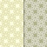 Blom- bakgrunder för olivgrön gräsplan mönsan den seamless seten Royaltyfri Bild