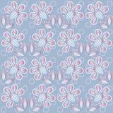 Blom- bakgrundsblått Arkivfoto