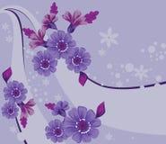 blom- bakgrundsdesign Royaltyfri Bild