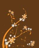 blom- bakgrundsdesign Royaltyfri Foto