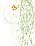 blom- bakgrundsfjäril Fotografering för Bildbyråer