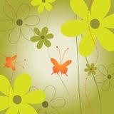 blom- bakgrundsfjäril Arkivbild
