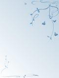 blom- bakgrundsfjärilar Vektor Illustrationer
