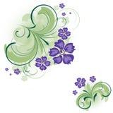 blom- bakgrundshörn stock illustrationer