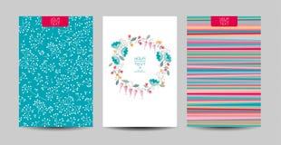 Blom- bakgrundsuppsättning stock illustrationer
