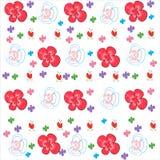 Blom- bakgrundsvektor med dekorativa vårblommor Royaltyfria Foton