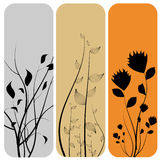 blom- baner stock illustrationer
