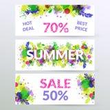 Blom- baner för sommarförsäljningsrengöringsduk Fotografering för Bildbyråer