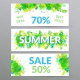 Blom- baner för sommarförsäljningsrengöringsduk Arkivfoto