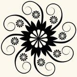 blom- barock garnering vektor illustrationer