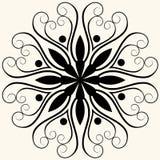 blom- barock garnering royaltyfri illustrationer