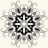 blom- barock garnering stock illustrationer