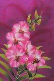 blom- batik Arkivfoton