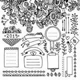 Blom- beståndsdelar för kultidskrift vektor illustrationer